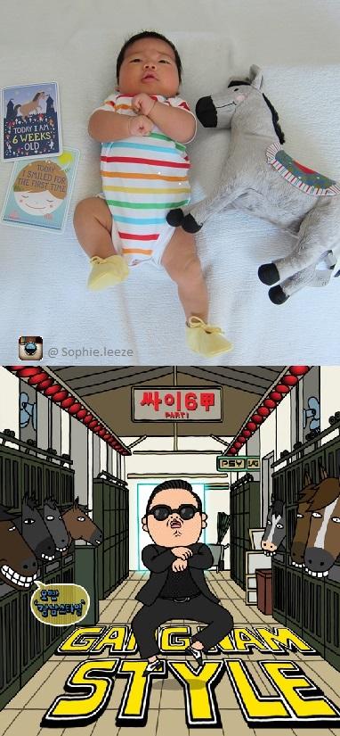 Sophie Gangnam Style edited 2