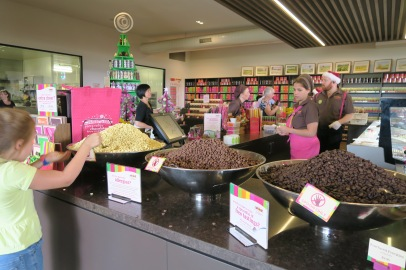 Free chocolate tastings.