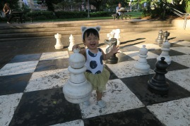 Playing chess @ Hyde Park.